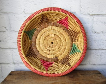 Colorful Low Basket Shallow Tray Wall Hanging Gallery Wall