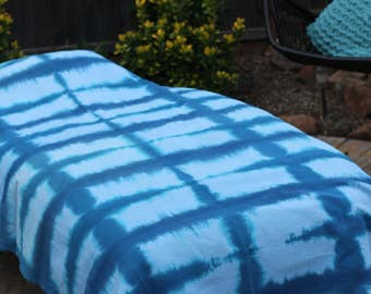 Twin tie dye Bedspread cotton shibori design. 100% cotton