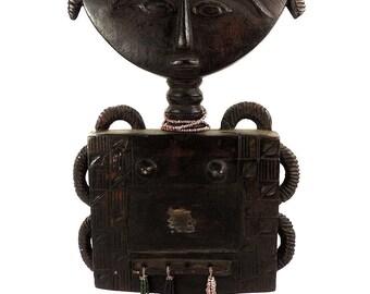 Asante Akua'ba Fertility Doll with Mirrors Ghana African Art 110110