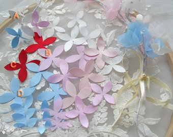 180pcs 5-6cm wide pink/blue/ivory/red bridal wedding dress petal appliques patches XS49CW8123HT free ship