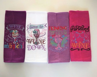 Kitchen wine cute quotes - machine embroidery designs - 4x4 and 5x7 - kitchen towels embroidery collection, wine lovers emroidery