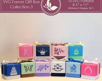 40% off SVG Favors Gift Box Collection 3