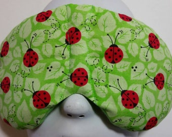 Herbal Hot/Cold Therapy Sleep Mask with adjustable and removeable strap Lady Bugs
