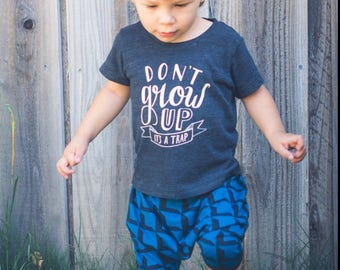 Boys Abstract Harem Shorts black and teal blue baby toddler kids 3 6 9 12 18 24 months 2T 3T 4T 5T Squares