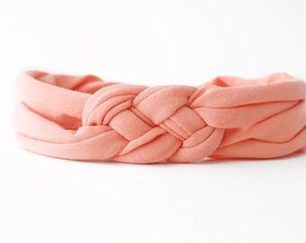 Peach Baby Headwrap - Peach Hair Accessory - Newborn Knot Headband - Take Home Headband - Hospital Baby Headband - Toddler Knot Turban