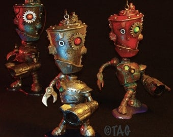 WARBOT Mix-and-Match Ornament Standie by Tom Taggart