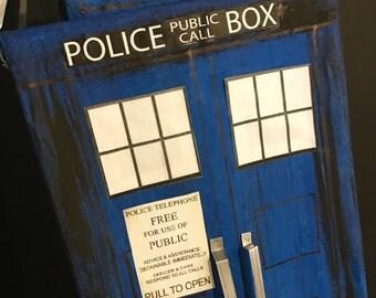 Painted TARDIS Pinata, Dr. Who, Time Travel