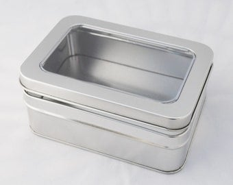 Storage Tin or Gift Box for Shawl Pins with Clear Window