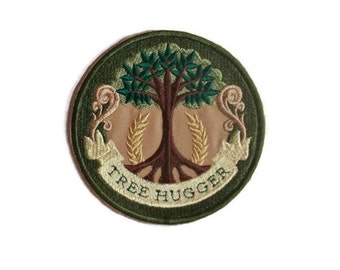 Tree Hugger iron on patch