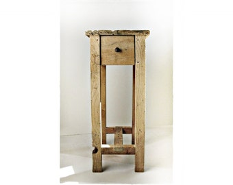 The Scrivener in Aged Pine .||. Reclaimed Wood End Table