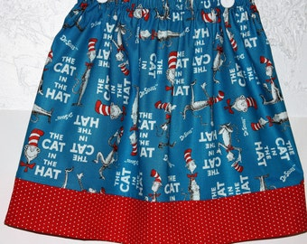 Dr Seuss Skirt  Cat in The Hat   size 2 to 8
