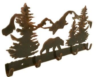 Bear Coat Rack | Hunting Decor | Wall Decor | Outdoor Decor | Home Decor |  Hunter Gift | Metal Wall Decor | Hunting Decoration| Outdoorsman