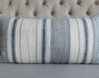 ON SALE, 16x32, Pillow case, Vintage Hmong Hemp cushion cover, Handwoven Hemp Fabric,Scatter cushions,