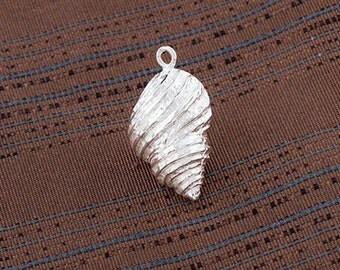 1 of 925 Sterling Silver Shell Pendant 11x17 mm. :tm0160