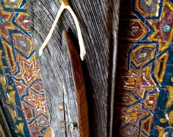 Hidden Success Fairy Door Assemblage, Barn Wood Upcycled, opening Fairy Door, Portal, Good Luck Charm
