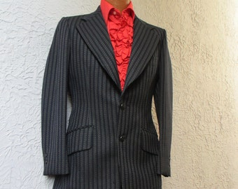 60's Men's Vintage Mod Hardy Amies London Striped Suit small
