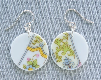 Veronica Orb Earrings Broken Recycled China Jewelry Material and Movement