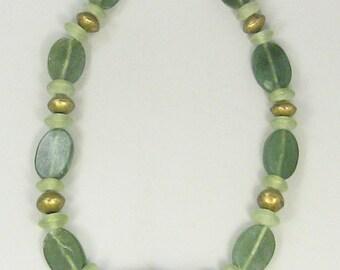 Tribal Necklace, Ethnic Jewelry, Afgani Green Beads