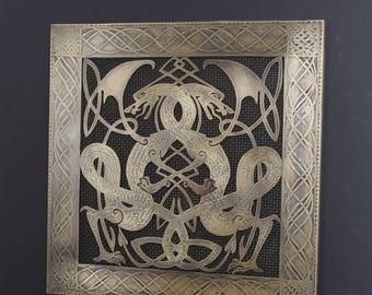 Celtic brass vent cover