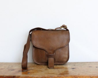 Vintage Coach Courier Bag // Saddle Bag RARE  // 70s Bonnie Cashin New York City Messenger Bag