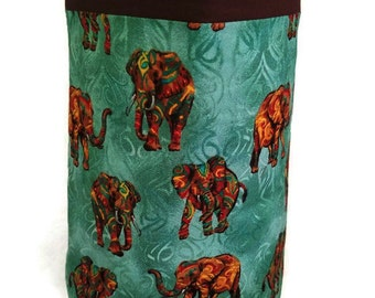 Elephants car trash bag/accessory holder. Firm bag