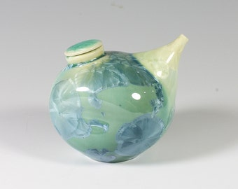 Sea Green Crystalline Soy Bottle