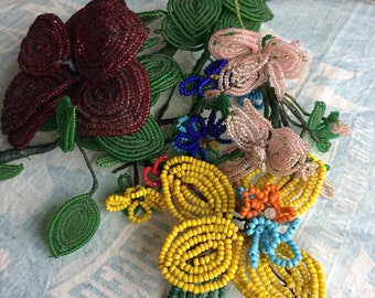 She Was Getting Pretty Good At The Vintage Beaded Flowers