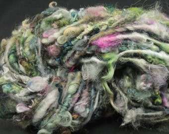 Handspun art yarn Teeswater  locks and more , 4.5 oz, 45 yards