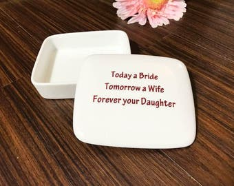 Father-of-the-Bride-Gift from Daughter | Square Keepsake Box | Father of the Bride | Gift from Daughter
