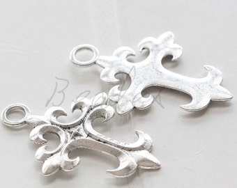 6 Pieces / Cross / Oxidized Silver / Base Metal / Charm 43*29mm (X750//H429)