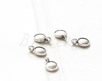 40 Pieces / Coin Drop / Oxidized Silver Tone / Base Metal / Charm (Y16697//O110)