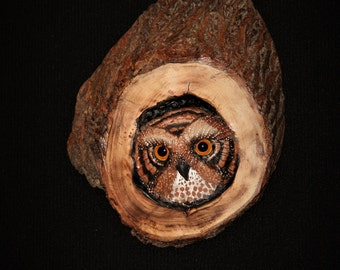 Wood Carving -Bird Carving - OOAK -  Hand Carved and Sculpted
