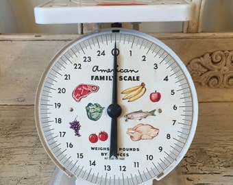 Vintage White Kitchen Scale - American Family Scale