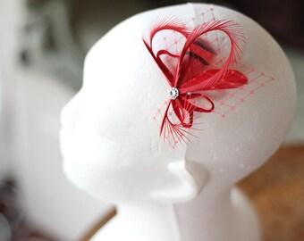 Red Hair Pin, Bridal Fascinators, Bridesmaid Gift, Red Hair Accessories, Red Fascinators, Red Hair Pins, Bridal Hair Pins