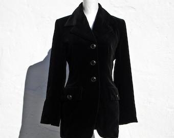 Black velvet jacket black velvet blazer fitted velvet jacket victorian velvet jacket edwardian velvet jacket androgynous velvet jacket