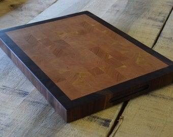 Cutting Board Cherry Walnut End Grain Butcher Block Cutting Board Chop Block Wedding Gift