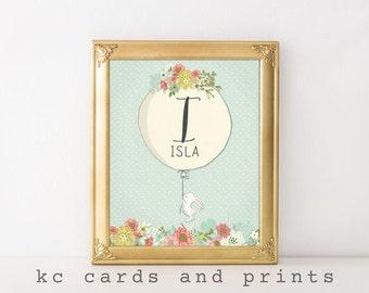 Isla, Nursery Rabbit Art, Nursery Print, Kids Room Decor, Rabbit Art, Animall Print, Wall Art, Nursery Decor, New Baby Gifts, Digital Print