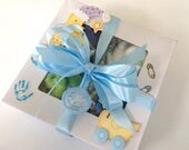 Washcloth Cupcake Baby Boy Shower Gift, Welcome Baby Gift
