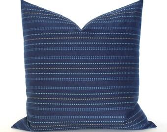 Blue Pillow Cover Modern Stripe Upholstery Fabric Decorative Pillow Throw Pillow Cover Euro Sham 26x26 24x24 22x22 20x20 18x18 16x16