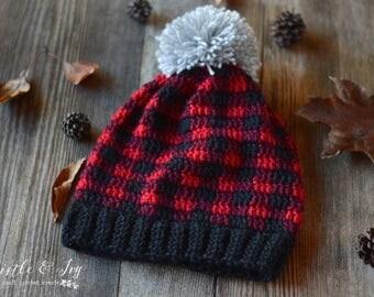 Crochet Plaid Slouchy PDF DIGITAL PATTERN
