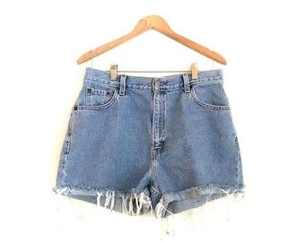 Vintage Levi's Cut Off Jean Shorts // Levi's Jorts // Vintage Cut Off Jean Shorts