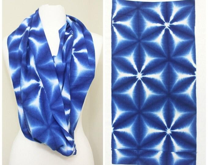 Indigo Shibori Cotton. Japanese Vintage Folk Textile (Ref: 1707)