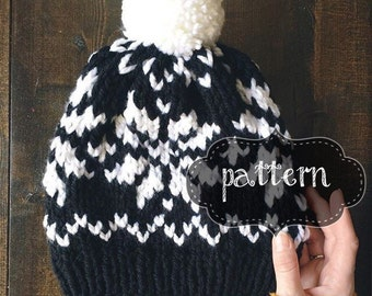 Snowflake Toque | Fair Isle Knit | Nordic Knit (KNIT PATTERN)