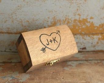 Engraved Ring Box Rustic Wood Ring Box Ring Bearer Pillow Alternative Wedding Ring Box Ring Keepsake Box Ring Holder #DownInTheBoondocks
