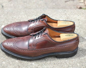 Beautiful Horween shell cordovan burgundy MacNeil longwing 9097 shoes - Made in the USA by Allen Edmonds Size 12AA narrow- 650.00 retail