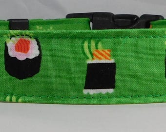 Dog Collar, Martingale Collar, Cat Collar - All Sizes - Sushi