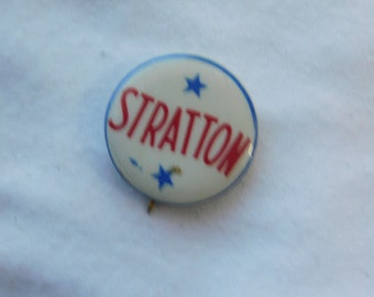 Vintage 1950's William Stratton for Governor of Illinois Pin Pinback Button Dr27