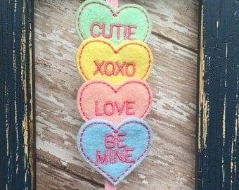 Valentine's Day Conversation Hearts Felt Headband Babies, Toddlers, Girls