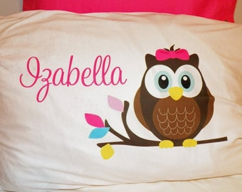 Personalized Owl Pillow Case - Standard - Personalized in ANY way