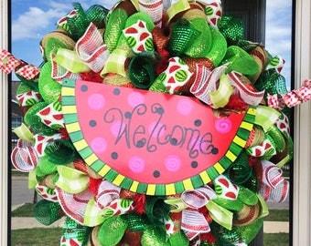 Summer Welcome Watermelon Wreath